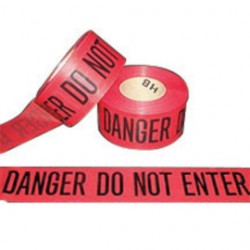 "Harris Industries - BT050 - Harris Industries 3"" X 1000' Black/Red 4 mil Polyethylene BT Series Barricade Tape ""DANGER DO NOT ENTER"", ( Roll )"