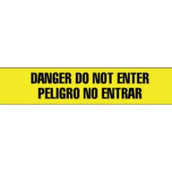 "Harris Industries - BT090 - Harris Industries 3"" X 1000' Black/Yellow 4 mil Polyethylene BT Series Barricade Tape ""CAUTION DO NOT ENTER CUIDADO NO ENTRAR"", ( Roll )"