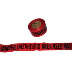 Harris Industries - BT52-2 - Harris Industries 3 X 200' Black/Red 4 mil Polyethylene BT Series Barricade Tape DANGER HAZARDOUS AREA KEEP OUT, ( Roll )