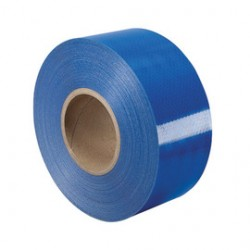 "Harris Industries - RF-6BL - Harris Industries 2"" X 150' Blue 4.5 mil Glass Beaded Lens Retroreflective Sheeting Reflective Safety Barricade Tape, ( Roll )"