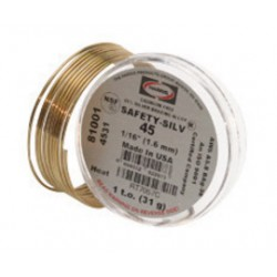 """Harris Welco - 45S00514 - .005"""" X 1/4"""" BAg-5 Harris Safety-Silv 45 High Silver Brazing Alloy Wire (Prices are subject to change without notice due to raw materials cost volatility), ( Troy Ounce )"""