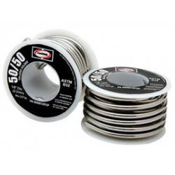 "Harris Welco - 505061 - 1/8"" Harris Solid Cored 50% Tin 50% Lead Solder 1# Spool, ( US pound )"