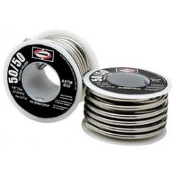 "Harris Welco - 50R61 - 1/8"" Harris Rosin Cored 50% Tin 50% Lead Solder 1# Spool, ( US pound )"