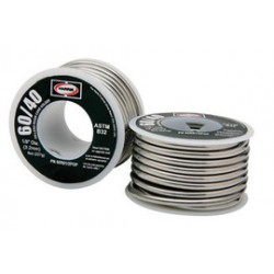 "Harris Welco - 604061 - 1/8"" Harris Solid Cored 60% Tin 40% Lead Solder 1# Spool, ( US pound )"