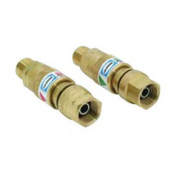 "Harris - 4301654 - Harris ""B"" 9/16"" - 18 Brass And Steel Torch Quick Connect With 26-QCT Right And Left Flash-Guard (Pair), ( Package )"