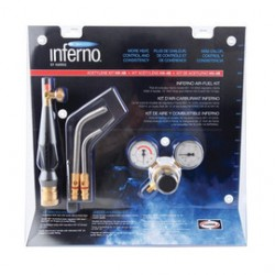 "Harris - 4400088 - Harris Inferno HX-6MC 15 1/2"" X 6 1/4"" X 16"" CGA-200 Air Fuel Quick Connect Acetylene Torch Kit With ""A"" Hose Connection (Includes Brazing Tips, Handle, Fuel Gas Regulator, Chrome Wrench And Hose), ( Each )"