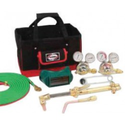 Harris - 4403240 - Harris Model 43425F-510P Pipeliner Classic Deluxe Heavy Duty Brazing, Heating And Cutting Outfit With Tool Bag, CGA-510P, ( Each )