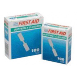 Honeywell - 011990-CA - Swift First Aid American White Cross Butterfly Closure Bandage (100 Per Box), ( Box of 24 )