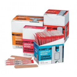 Honeywell - 016433-BX - Swift First Aid 3/4 X 3 Regular Woven Strip Adhesive Bandage (100 Per Box), ( Box )