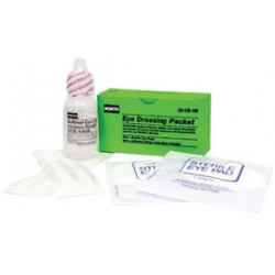 Honeywell - 020956-BX - North By Honeywell 1 Ounce Bottle Sterile Eye Wash Solution With 2 Sterile Eye Pads And 4 Adhesive Strip, ( Box )