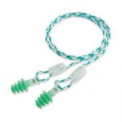 Honeywell - 1005328HW - 21dB Reusable Flanged-Shape Ear Plugs; Corded, Green, S