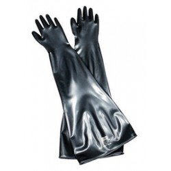 Honeywell - 10B1532A/9Q - North by Honeywell Size 9 3/4 Black Drybox 32 15 mil Butyl Ambidextrous Chemical Resistant Gloves With 10 Dia Rolled Cuff, ( Each )