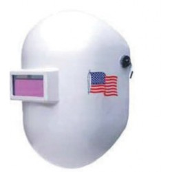 Honeywell - 110PBM10-EA - Fibre-Metal by Honeywell Pipeliner White Welding Helmet With 2 X 4 Shade 10 Auto Darkening Lens, ( Each )