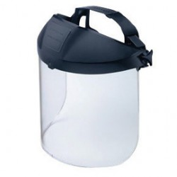 "Honeywell - 11340143 - North by Honeywell Prolok Protecto-Shield Thermoplastic Headgear With 8 1/2"" X 15"" X .070"" Clear Propionate Visor"
