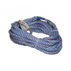 Honeywell - 300L-Z7/100FTBL - Miller by Honeywell 100' Vertical 5/8 Blue Polyester And Polypropylene Blend Rope Lifeline With Locking Snap Hook And Loop, ( Each )