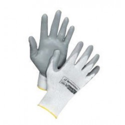 Honeywell - 390-L - Honeywell Large Pure Fit 13 Cut Light Weight General Purpose Cut Resistant Gray Foam Nitrile Palm Coated Work Gloves With White Nylon Liner