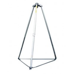 Honeywell - 51/7FT - Confined Space Tripod, 48 to 72 Height Range, 38 to 66 Base Radius Range, 400 lb. Max. Working Lo