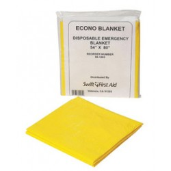 Honeywell - 551003 - Emergency Blanket, Yellow, 54In x 80In