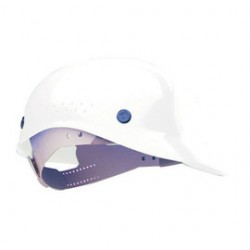 Honeywell - BC86010000 - White Polyethylene Vented Bump Cap, Style: Front Brim, Fits Hat Size: 6-1/2 to 8