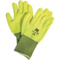 Honeywell - NF11HVY/9L - Coated Gloves, L, Hi Vis Yellow, PR