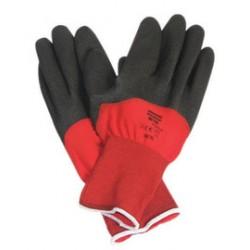Honeywell - NF11X/9L - Coated Gloves, L, Black/Red, PR
