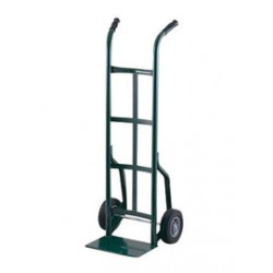 "Harper Trucks - 20T14 - Harper Series 20T 800 lb Steel Industrial Hand Truck With 8"" X 2 1/4"" Solid Rubber Wheels, Dual Handle And 8"" X 14"" Base Plate, ( Each )"