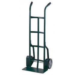 "Harper Trucks - 25T83 - Harper Series 25T 900 lb Industrial Hand Truck With 10"" X 2 1/2"" Solid Rubber Wheels, Dual Handle And 7"" X 18"" Base Plate, ( Each )"