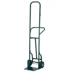 "Harper Trucks - 32TCT57 - Harper Series 32TCT 900 lb Industrial Hand Truck With 8"" X 2 1/4"" Offset Poly Hub Solid Rubber Wheels, Continuous Handle, 17 1/2"" X 14"" X 13"" Base Plate And Taper Nozzle Base, ( Each )"
