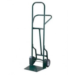 """Harper Trucks - 32TT57 - Harper Series 32TT 900 lb Industrial Hand Truck With 8"""" X 2 1/4"""" Offset Poly Hub Solid Rubber Wheels, Continuous Handle, 17 1/2"""" X 14"""" X 13"""" Base Plate And Taper Nozzle Base, ( Each )"""