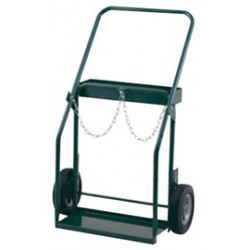 Harper Trucks - 410-86 - Harper Series 400 Cylinder Truck With 10' X 2' Solid Rubber Wheels, Continuous Handle, 9' X 21' Base Plate, Cylinder Hold Chain, Narrow Frame And Large Tool Box (For Medium And Large Cylinders), ( Each )