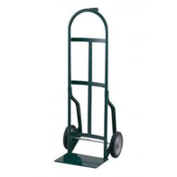 """Harper Trucks - 46T60 - Harper Series 46T 800 lb Steel Industrial Hand Truck With 10"""" X 2 1/2"""" Offset Poly Hub Solid Rubber Wheels, Pin Handle And 8"""" X 14"""" Base Plate, ( Each )"""