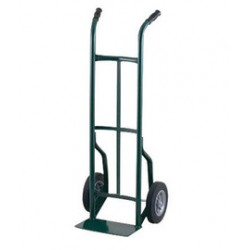 "Harper Trucks - 50T86 - Harper Series 50T 600 lb Steel Industrial Hand Truck With 10"" X 2"" Solid Rubber Wheels, Dual Handle And 7"" X 14"" Base Plate, ( Each )"