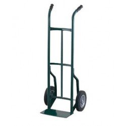 """Harper Trucks - 51T60 - Harper Series 51T 600 lb Steel Industrial Hand Truck With 10"""" X 2 1/2"""" Offset Poly Hub Solid Rubber Wheels, Dual Handle And 7"""" X 14"""" Base Plate, ( Each )"""