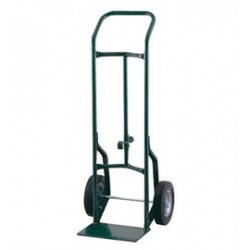 """Harper Trucks - 52DAK19 - Harper Series 52D 600 lb Industrial Hand Truck With 10"""" X 3 1/2"""" Pneumatic 2-Ply Tubeless Wheels, Continuous Handle, 8"""" X 14"""" Base Plate And Chime Hook, ( Each )"""