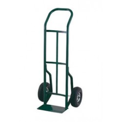"Harper Trucks - 52T60 - Harper Series 52T 600 lb Steel Industrial Hand Truck With 10"" X 2 1/2"" Offset Poly Hub Solid Rubber Wheels, Continuous Handle And 7"" X 14"" Base Plate"