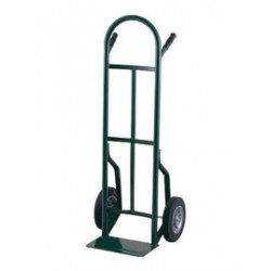 """Harper Trucks - 53T60 - Harper Series 53T 600 lb Steel Industrial Hand Truck With 10"""" X 2 1/2"""" Offset Poly Hub Solid Rubber Wheels, Dual Pin Handle And 7"""" X 14"""" Base Plate, ( Each )"""