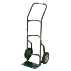 "Harper Trucks - 701-17 - Harper Series 700 Cylinder Hand Truck With 10"" X 3 1/2"" Pneumatic 4-Ply Tire-Tube Wheels, Continuous Handle And 7"" X 24"" Base Plate (For Medium To Large Cylinders)"