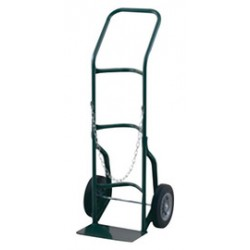 "Harper Trucks - 701SC-86 - Harper Series 700 Cylinder Hand Truck With 10"" X 2"" Solid Rubber Wheels, 7"" X 14"" Base Plate And Stair Crawler (For Medium To Large Cylinders)"