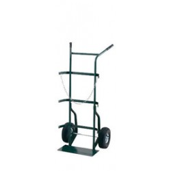 "Harper Trucks - 742-60 - Harper Series 700 Cylinder Hand Truck With 10"" X 2 1/2"" Offset Poly Hub Solid Rubber Wheels And 9"" X 18"" Base Plate (For Medium To Large Cylinders)"