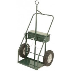 """Harper Trucks - 916F-72 - Harper Series 900 Heavy Duty Cylinder Cart With 16"""" X 4"""" Pneumatic Wheels, Continuous Handle, 13"""" X 24"""" Base Plate And Fire Barrier (For Large Cylinders), ( Each )"""