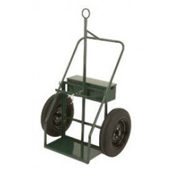 """Harper Trucks - 925B-34 - Harper Series 900 Heavy Duty Cylinder Cart With 21"""" X 4"""" Pneumatic Tubeless Wheels, Continuous Handle, 13"""" X 24"""" Base Plate And Belly Band (For Large Cylinders), ( Each )"""