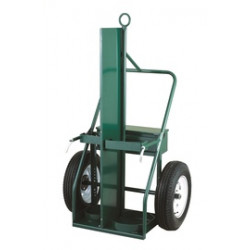 "Harper Trucks - 950F-34 - Harper Series 950 Extra Heavy Duty Cylinder Cart With 21"" X 4"" Roller Bearing Pneumatic Wheels, Continuous Handle, 13"" X 24"" Base Plate And Fire Barrier (For Large Cylinders), ( Each )"