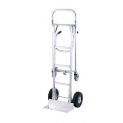 "Harper Trucks - ADTM11645 - Harper Series ADTM Megatruck Aluminum Hand Truck With 10"" X 3 1/2"" Pneumatic 2-Ply Wheels, 5"" X 1 1/4"" Mold-On Polyurethane Swivel Caster, Dual Pin Handle And 7 1/2"" X 18"" Base Plate, ( Each )"