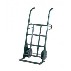 """Harper Trucks - AM253W87 - Harper Series Brute Force 1500 lb Hand Truck With 10"""" X 2 1/2"""" Zerk Mold-On Rubber Wheels, Wooden Handle And 6 1/2"""" X 24"""" Base Plate, ( Each )"""