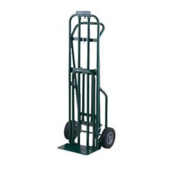 """Harper Trucks - DCT1446 - Harper Series DCT 800 lb 3-Position Convertible Multi-Purpose Platform Hand Truck With 8"""" X 2 1/4"""" Solid Rubber Wheels, 3"""" Mold-On Urethane Swivel Caster And 7"""" X 14"""" Base Plate, ( Each )"""