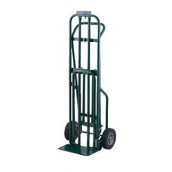 "Harper Trucks - DCT8546 - Harper Series DCT 800 lb 3-Position Convertible Multi-Purpose Platform Hand Truck With 8"" X 2"" Offset Poly Hub Solid Rubber Wheels, 3"" Mold-On Urethane Swivel Caster And 7"" X 14"" Base Plate, ( Each )"