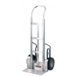 """Harper Trucks - G6CF01CF - Harper Aluminum Curved Back Frame Vertical Strap Hand Truck With 10"""" Micro Cellular Foam Wheel, Continuous Handle, 10"""" X 18"""" Notched Base, Stair Crawler And Fenders (For Gas Cylinders), ( Each )"""