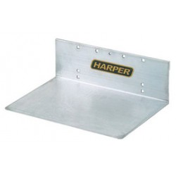 "Harper Trucks - GI - Harper 10"" X 14"" Extruded Aluminum Unnotched Base Plate, ( Each )"