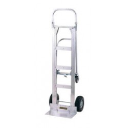 "Harper Trucks - GWDT2CJ1645 - Harper Series GWDTJ Dual Platform Hand Truck With 10"" X 3 1/2"" Pneumatic 2-Ply Wheels, 5"" X 1 1/4"" Mold-On Polyurethane Swivel Caster, Continuous Handle And 8"" X 18"" Base Plate, ( Each )"