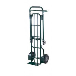 "Harper Trucks - HDTT6448 - Harper Series HDTT 800 lb Heavy Duty Platform Hand Truck With 10"" X 2 1/2"" Polypropylene Hub Solid Rubber Wheels, 3 1/2"" Mold-On Urethane Swivel Caster And 7"" X 14"" Base Plate, ( Each )"
